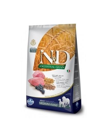 Farmina N&D Cordero y Arandano Adult Medium-Maxi Ancestral  Low Grain