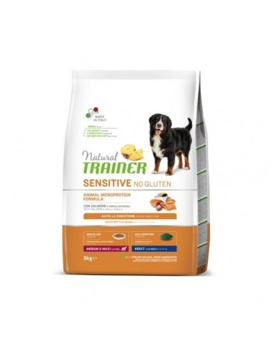 Natural Trainer Sensitive No Gluten Medium&Maxi Salmón