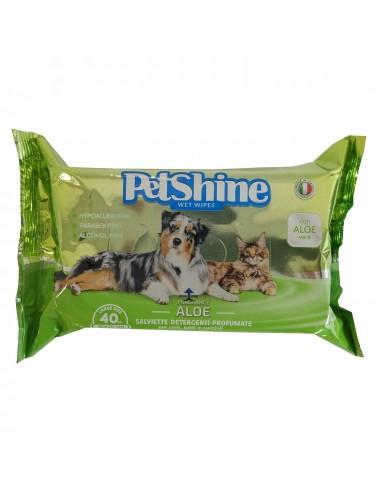 PetShine Toallitas higiene Aloe Vera
