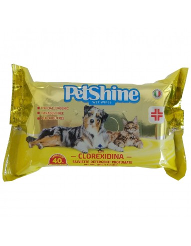 PetShine Toallitas higiene agua fresca