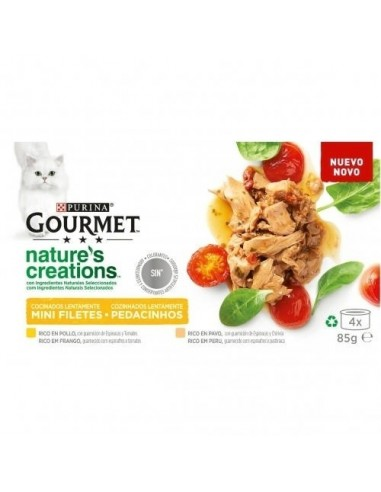 Purina Gourmet Nature Creations Filetes de Pollo y Pavo
