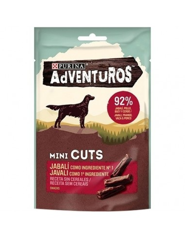 Purina  Snacks Adventuros Mini Cuts Jabalí