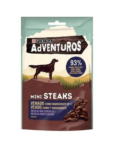 Purina  Snacks Adventuros Mini Steaks Venado