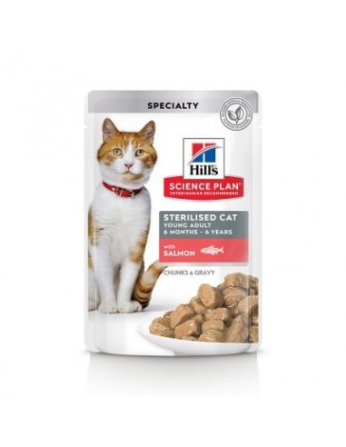 Hill's Science Plan Feline Young Adult Sterilised Bolsitas Salmon