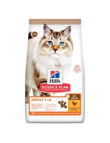 Hill's Adult No Grain con pollo pienso para gatos