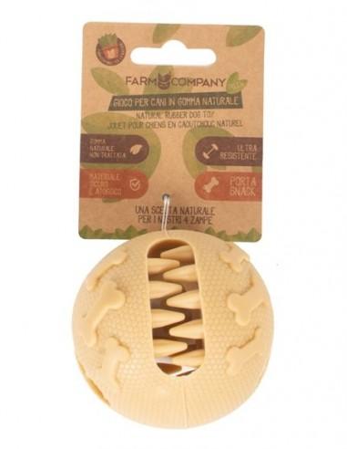 Juguete Perro  Pelota Caucho Natural Snack