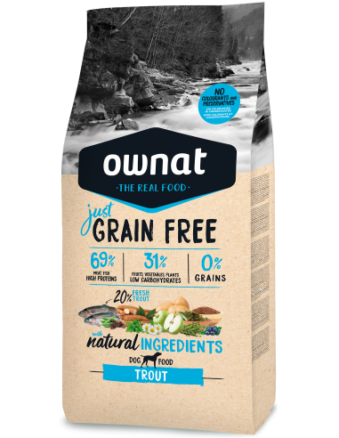 Pienso Ownat Just Grain Free Adult Trucha