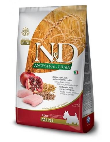 Farmina N&D Pollo y Granada Adult Mini  Ancestral