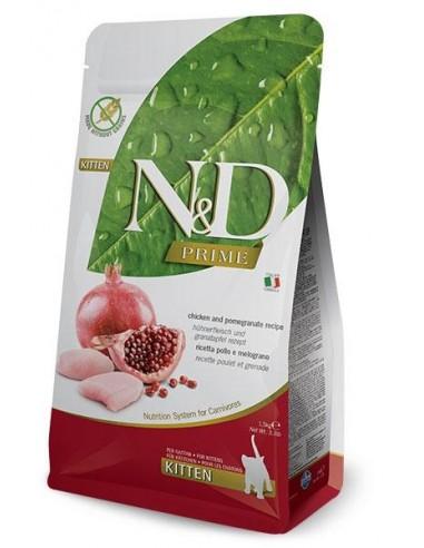 Farmina N&D Pollo y Granada Kitten Grain Free Prime