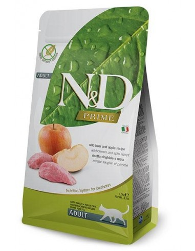 Farmina N&D Jabalí y Manzana Adult Cat Grain Free Prime